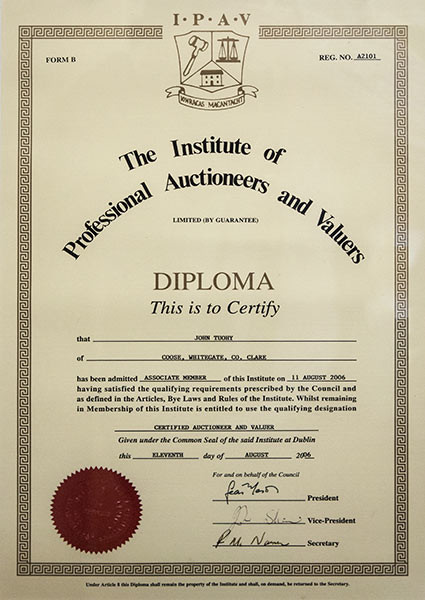 Institute of Professional Auctioneers and Valuers Diploma